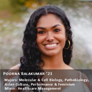 Peer Research Ambassador Poorna Balakumar '23.