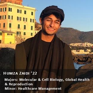 OUR Peer Research Ambassador Humza Zaidi '22.