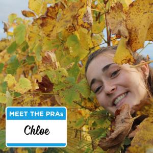Meet the PRAs - Chloe.