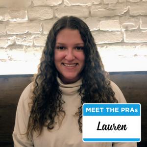 Meet the PRAs - Lauren.