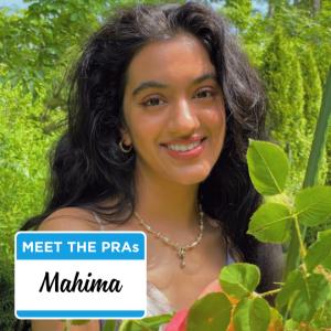 Meet the PRAs: Mahima.